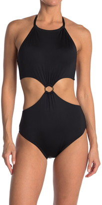 Laundry by Shelli Segal Ring Monokini One Piece Swimsuit