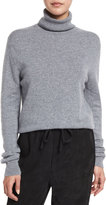 Vince Cropped Cashmere Turtleneck Sweater, Heather Stone