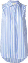 MICHAEL Michael Kors striped sleeveless shirt - women - Cotton/Spandex/Elastane - L