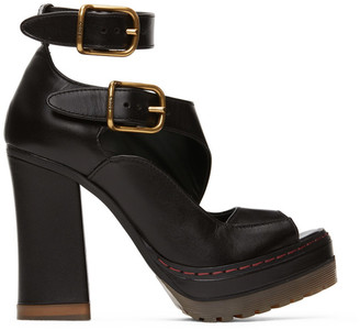 Chloé Black Daisy Platform Sandals