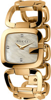 Gucci YA125513 G Collection yellow-gold PVD watch