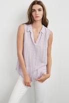 Dezeray Windowpane Sleeveless Shirt