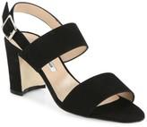 Manolo Blahnik Khan Block-Heel Suede Slingback Sandals