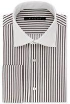 Sean John Classic/Regular Fit Men's Fitted Tailored-Cut Brown Stripe Dress Shirt