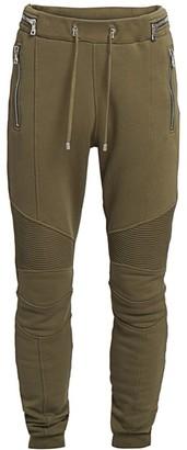 Balmain Monogram Ribbed Sweatpants