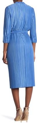 Alice + Olivia Katina Gathered Tie Belt Midi Dress
