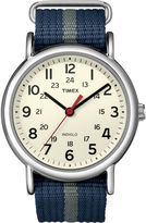 Timex Weekender Blue & Gray Fabric-Strap Watch