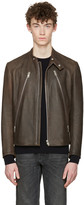 Maison Margiela Brown Five-zip Jacket