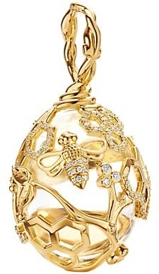 Temple St. Clair Tree Of Life 18K Yellow Gold & Diamond Beehive Amulet