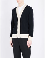 Alexander Mcqueen Crochet-trim Knitted Wool Cardigan