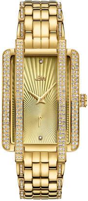 JBW 18K Gold Over Stainless Steel 1/8 CT. T.W Genuine Diamond Bracelet Watch-J6358b