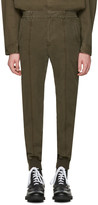 Juun.J Khaki Side Zip Trousers
