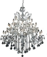 Theresa Crystorama Lighting Crystorama 4470-CH-CL-SAQ Maria Ten Light Chandelier, Choose Finish: Polished Chrome