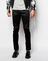 Antony Morato Black Cotton Trousers In Skinny Fit - Black