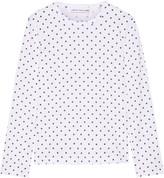 Comme des Garcons Polka-dot Cotton-jersey Top - White