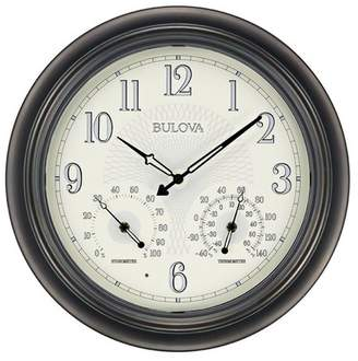 Bulova Clocks C4813 Weather Master Outdoor Thermometer and Hygrometer Wall Clock