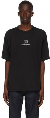 Acne Studios Black Reflective Patch Motif T-Shirt