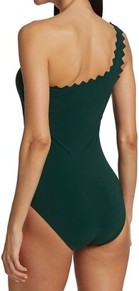 Karla Colletto Swim Ines Scalloped One-Shoulder One-Piece Swimsuit