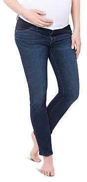 Polaroid Originals Nom Maternity Chelsea Under-the-Belly Jeans in Dark Wash