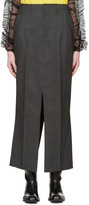 Junya Watanabe Grey Slit Trouser Skirt