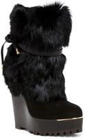 Rachel Zoe Apres Genuine Rabbit Fur Cuffed Boot