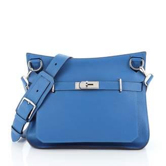 Hermes Jypsiere Blue Leather Handbags