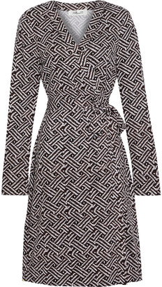 Diane von Furstenberg Julian Printed Silk-jersey Wrap Dress