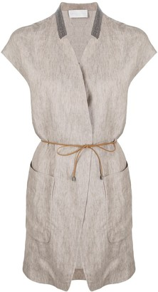 Fabiana Filippi Long-Line Linen Waistcoat
