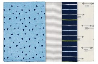 Gerber Baby Boy Assorted Flannel Burp Cloth Set, 4-Pack