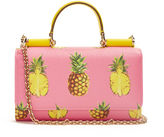 Dolce & Gabbana Pineapple-print leather cross-body bag