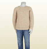 Gucci Beige Stretch Alpaca Sweater