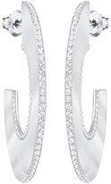 Swarovski Gelane Hoop Pierced Earrings - White - 5279779