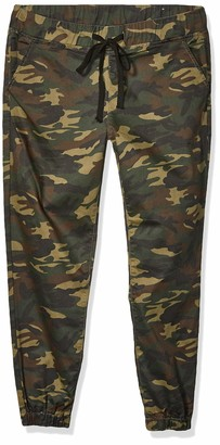 Cover Girl Women's Camo Print Skinny Jeans Joggers Cargo Lace Leg 7/8