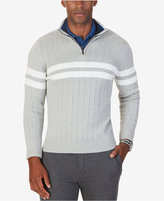 Nautica Men's Ribbed Quarter-Zip Sweater, Only at Macy's
