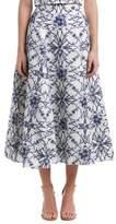 Marchesa Silk-blend Full Skirt.