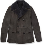 Bottega Veneta Slim-Fit Double-Breasted Shearling Jacket