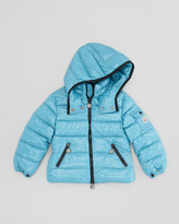 Moncler Bady Quilted Nylon Jacket, Blue