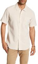 Obey Harper Seersucker Short Sleeve Trim Fit Shirt