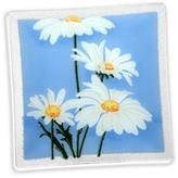 Peggy Karr Glass Four Daisies 10