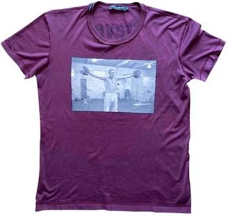 Dolce & Gabbana Burgundy Cotton T-shirts