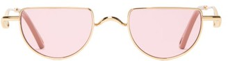 Chloé Ayla Half-moon Sunglasses - Pink Gold