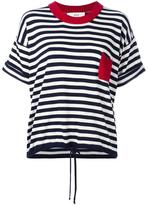 Vanessa Bruno striped knitted T-shirt - women - Cotton/Wool - M