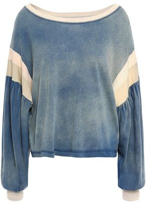Current/Elliott The Two Step Faded Color-block Cotton-jersey Top