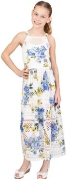 Bonnie Jean Big Girls Crochet Inset Maxi Dress
