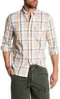 Michael Bastian Long Sleeve Pocket Plaid Shirt