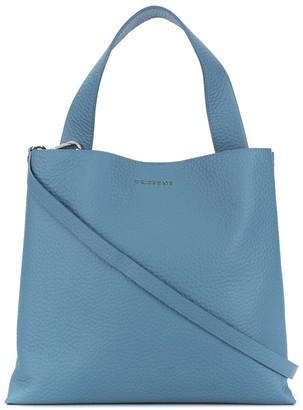 Orciani Soft Logo Plaque Tote Bag