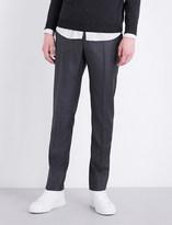 SLOWEAR Slim-fit Super 100 wool trousers