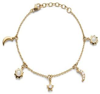 Monica Rich Kosann Sun Moon Stars Bracelet in Gold