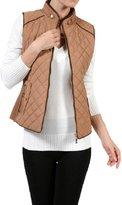 Trends SNJ Women's Lightweight Quilted Padding Zip Up Jacket Vest ( 2XL)