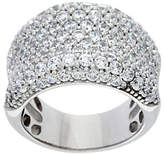 Diamonique Bold Concave Band Ring, Sterling or14K Clad